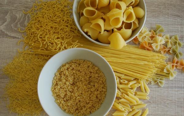Pasta procedente de harinas refinadas