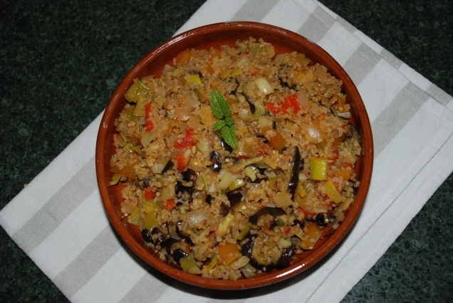 Cuscús con verduras estilo marroquí