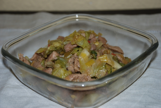 Ensalada templada de carne dulce y melón