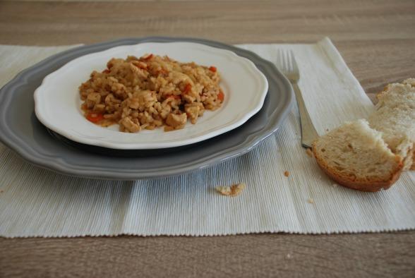 Arroz con salsa de soja y zanahorias